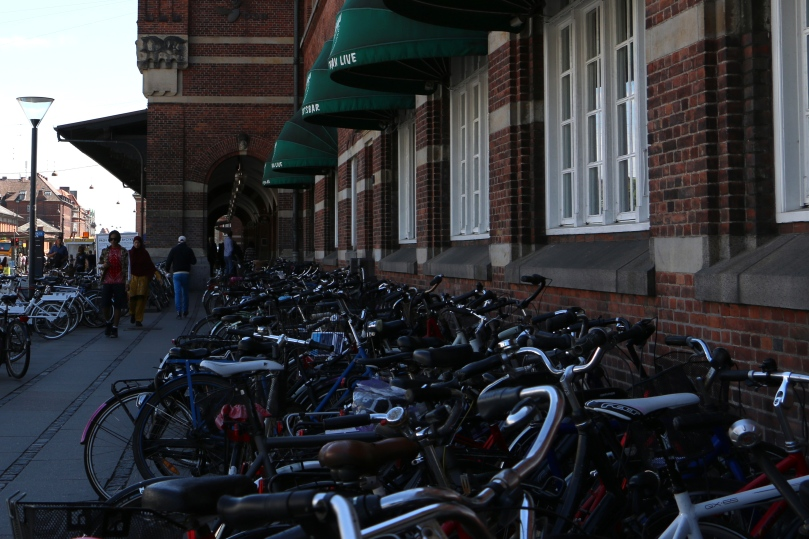 A trillion bicycles parked in a row.