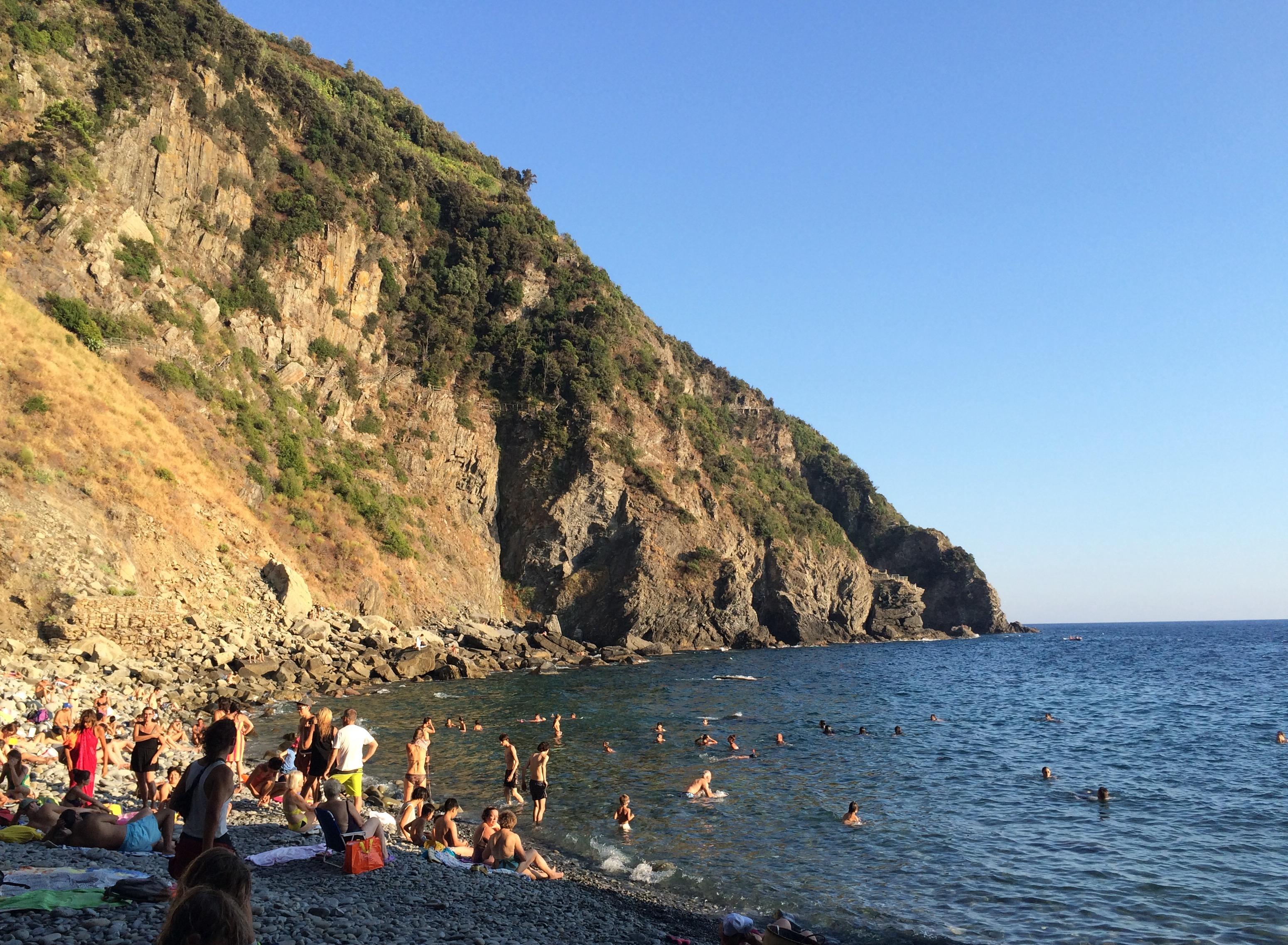 Swimming in Riomaggiore